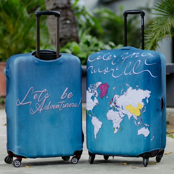 Color Your World Luggage Cover by Wanderskye