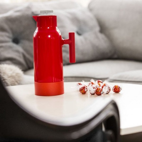 Red Accent Coffee Pitcher