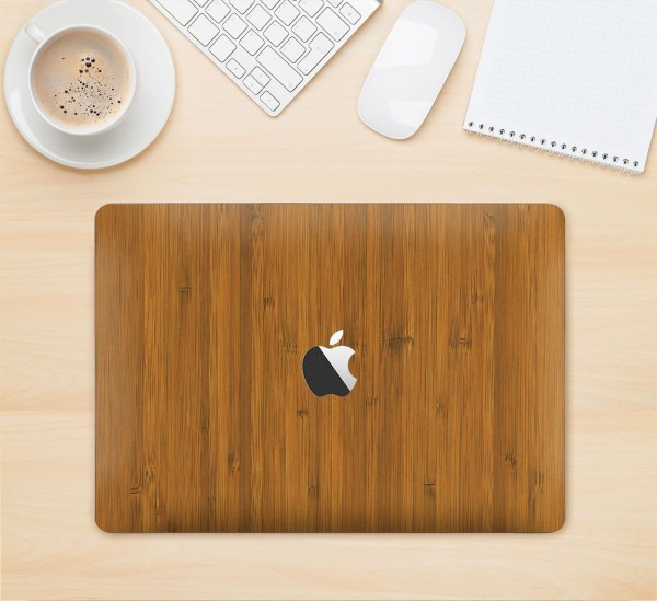 Natural Bamboo Wrap for Macbooks by Slickwraps