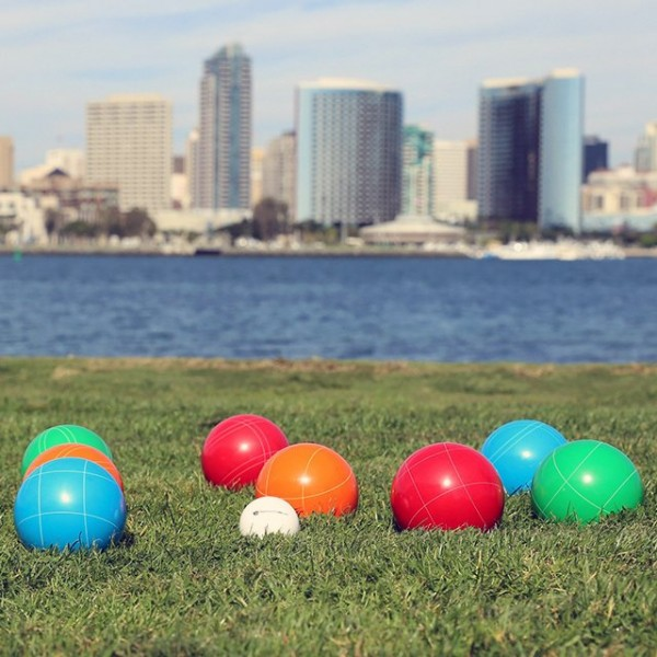 Bocce Ball Wooden Crate Set