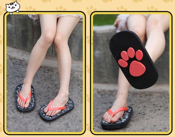 D-Sun Animal Footprint Sandals
