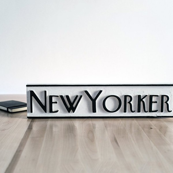 New Yorker Wood Sign
