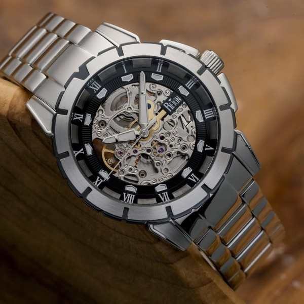 Reign Philippe Automatic Skeleton Bracelet Watch