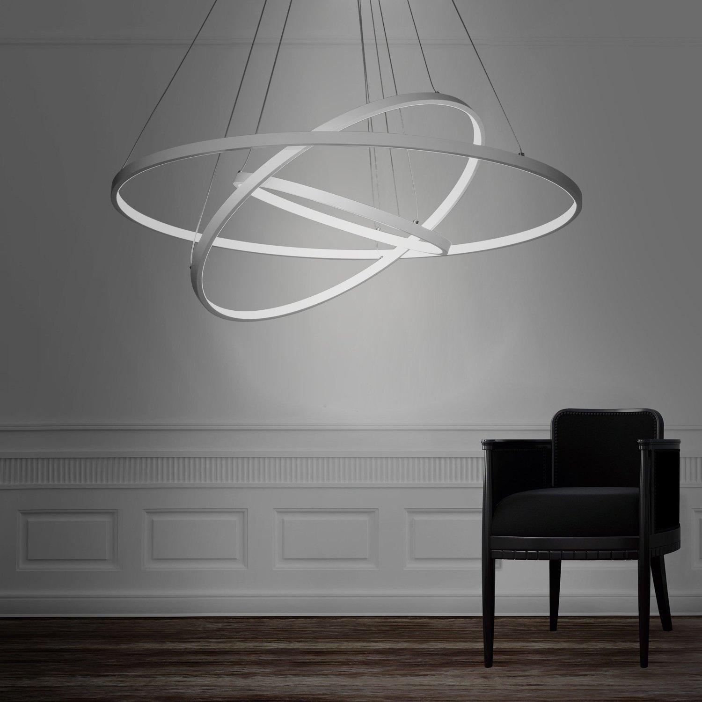 Modern 3 Rings Large LED Pendant Light  Petagadget
