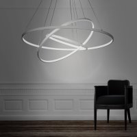 Modern 3 Rings Large LED Pendant Light  Petagadget