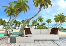 Tropical Paradise Beach - Removable Wall Mural Petagadget