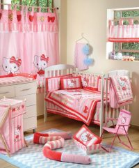 Hello Kitty Striped Crib Bedding Accessory  Petagadget