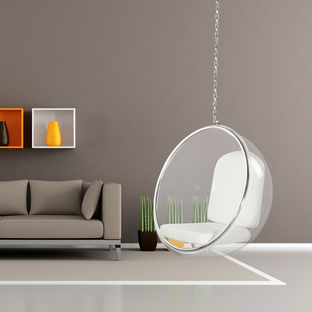 Designer Modern Bubble Hanging Chair Pink Acrylic  Petagadget