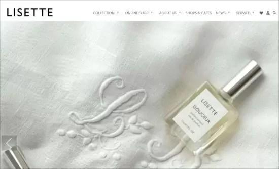 LISETTEの公式サイトトップページ