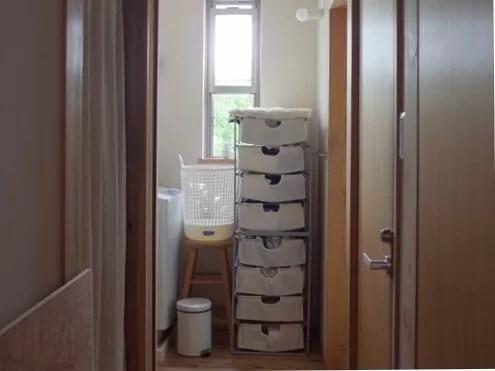 大房家の洗濯機置き場