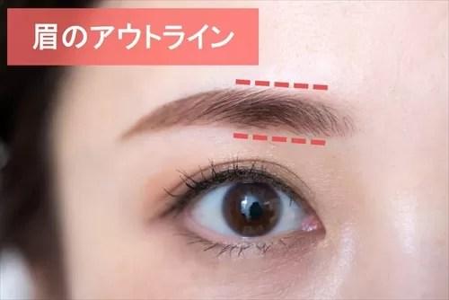 眉のアウトラインの描き方のポイント