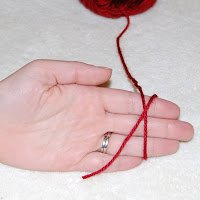 Magic Ring Crochet Step 1: make a loop with the yarn around your fingers with the tail end of the yarn behind the working yarn (the yarn coming from the skein) and leaving a tail about 6 inches long
