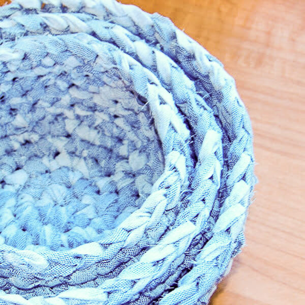Fabric Nesting Baskets Crochet Pattern