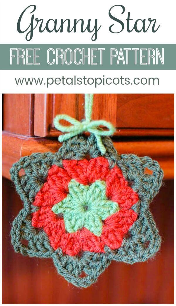 Granny Star Crochet Pattern Petals To Picots