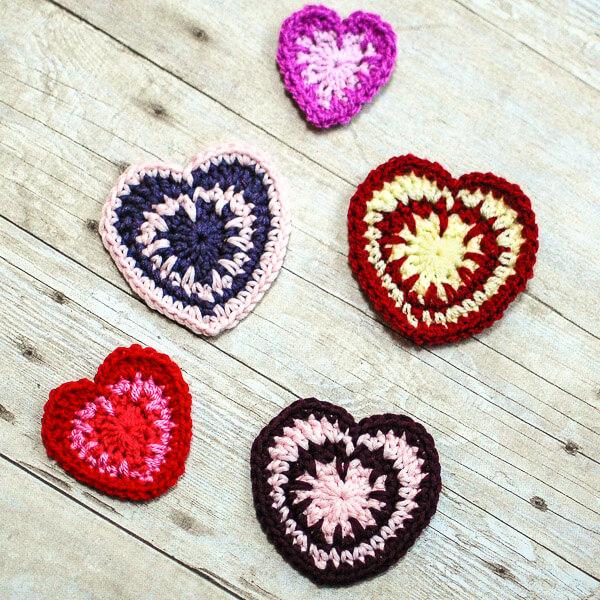 Spike Stitch Crochet Heart Pattern