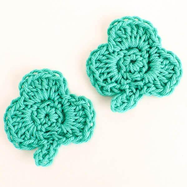 Clover Crochet Pattern - Crochet Clover Applique