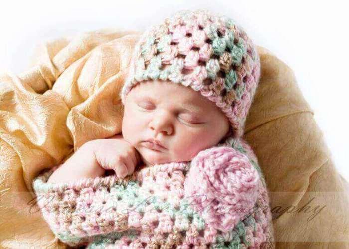 Newborn Crochet Bunting and Hat Pattern