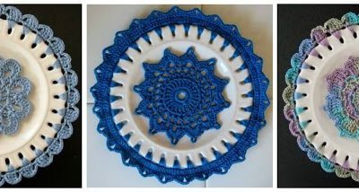 Crochet Embellished Decorative Plates … Free Pattern and Tutorial