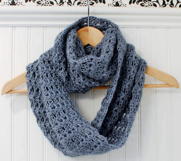 Mobius Infinity Scarf Wrap Petals To Picots
