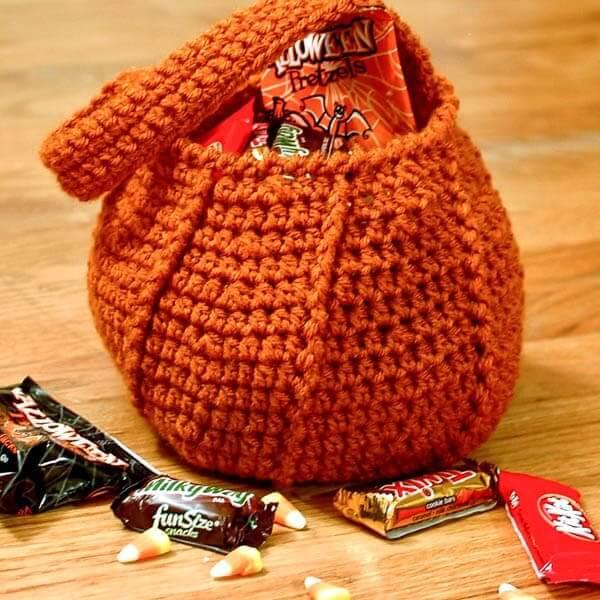 Pumpkin Bag Halloween crochet pattern