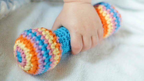 Crochet Baby Rattle Pattern | www.petalstopicots.com | #crochet
