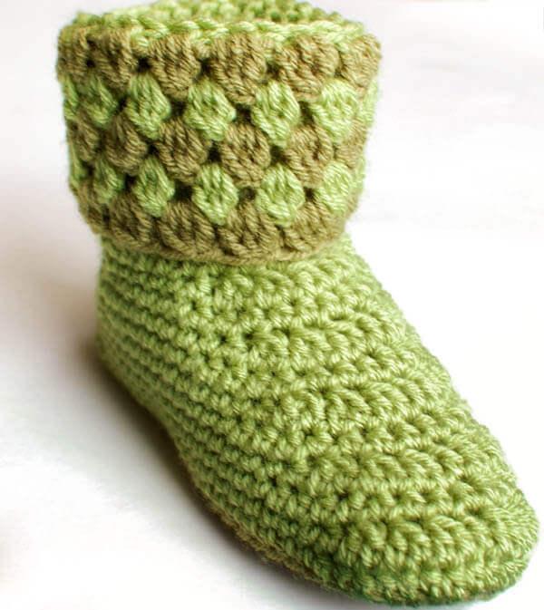 Knit Slipper Boots For Women
