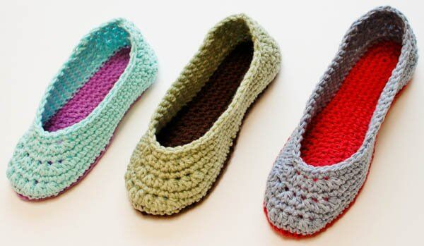 Slippers Crochet Pattern