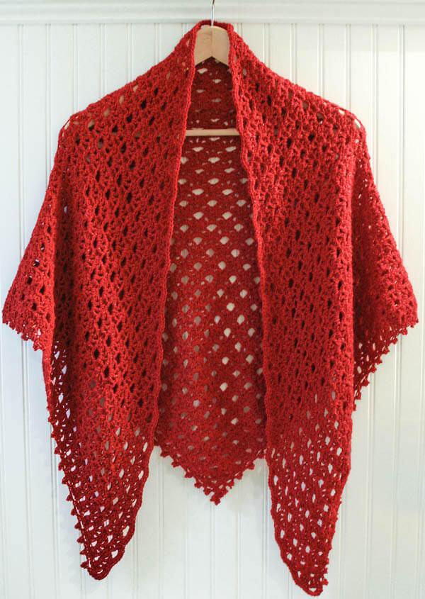 Lacy Shawl Crochet Pattern With Beaded Edging Gorgeous Crochet Shawl Pattern