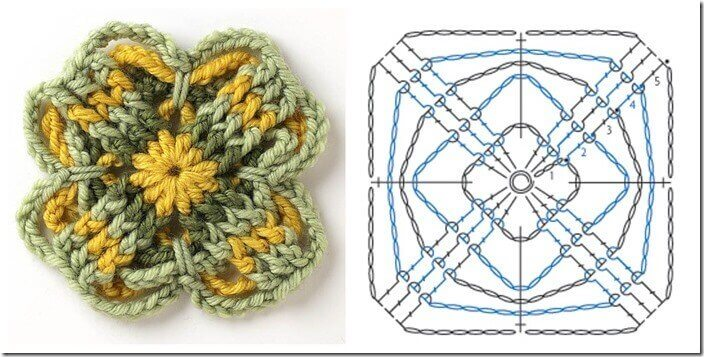 Free Motif Pattern From Connect The Shapes Petals To Picots