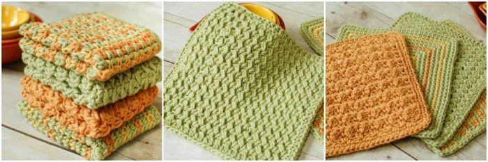 Free crochet dishcloth patterns | www.petalstopicots.com | #crochet #dishcloth #pattern #kitchen