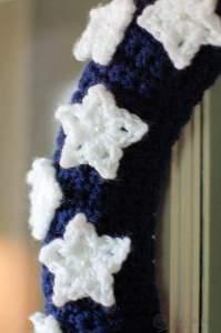 American Flag Wreath Crochet Pattern