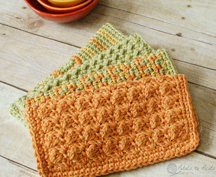 4 Quick And Easy And Free Crochet Dishcloth Patterns
