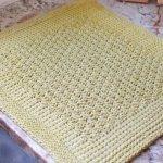 Tunisian Crochet Dish Drying Mat Pattern