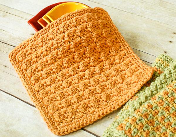 Textured Crochet Dishcloth Pattern Petals To Picots Inspiration Best Crochet Dishcloth Pattern