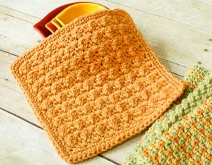Textured Crochet Dishcloth Pattern | www.petalstopicots.com