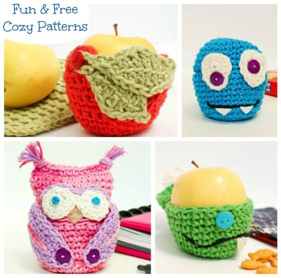 Crochet Owl Apple Cozy Pattern Petals To Picots