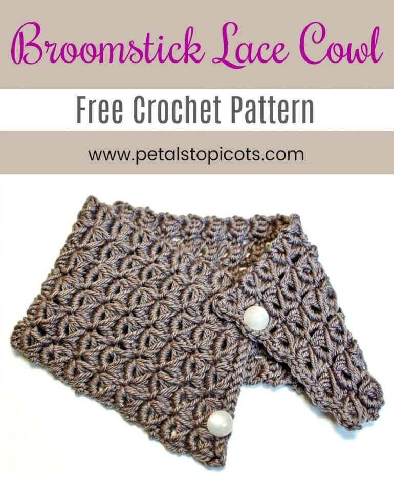 Broomstick Lace Cowl Pattern Broomstick Lace Pattern Petals To