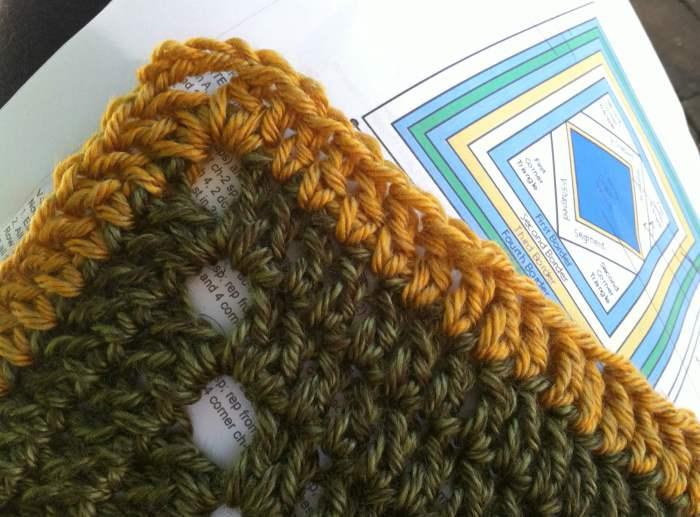 lion brand crochet along blanket CAL