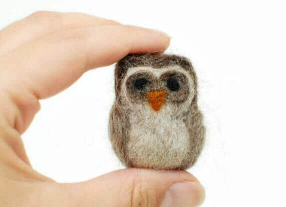 needle felted owl how to