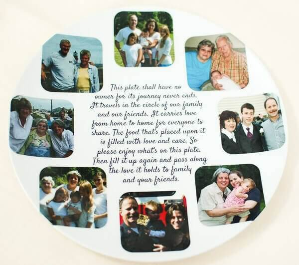 Shutterfly Personalized Pass Along Plate