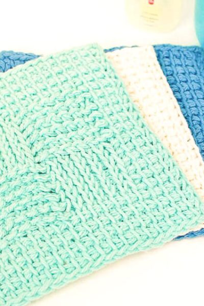 Sampler Washcloth Tunisian Crochet Pattern