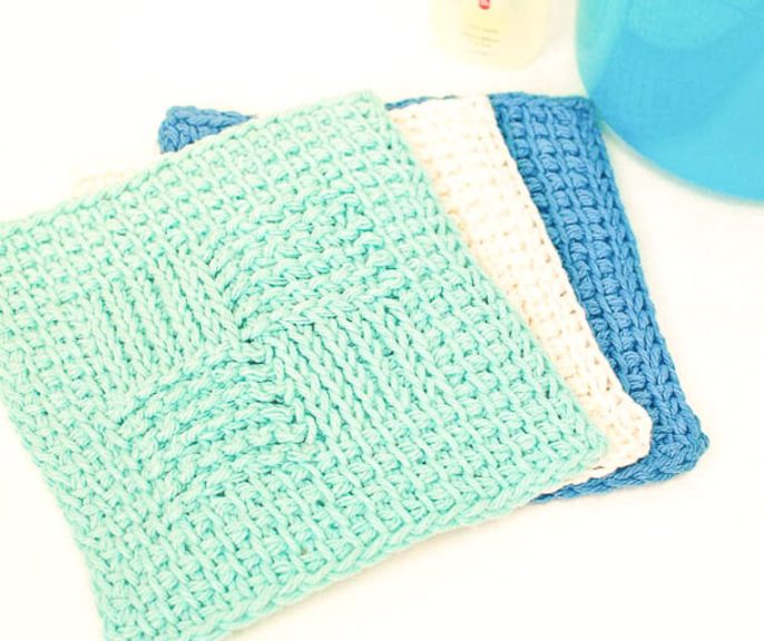 Sampler Washcloth Tunisian Crochet Pattern Petals To Picots