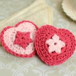 Heart sachet crochet pattern
