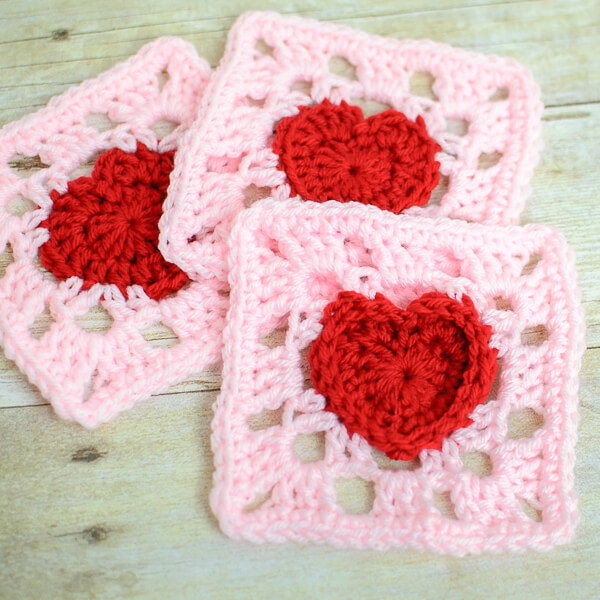 heart granny square crochet pattern