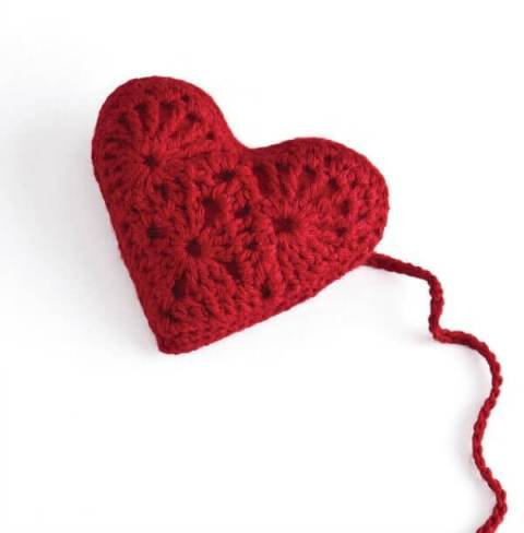Stitch Red Heart Sachet