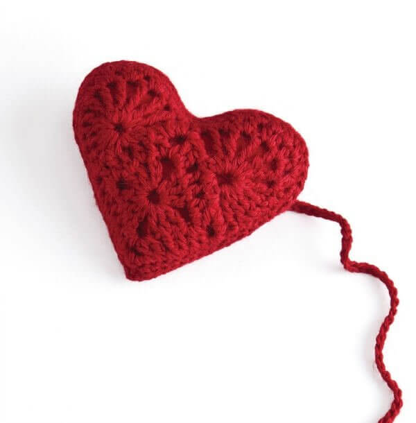 Free Heart Sachet Pattern From Stitch Red In Honor Of American Heart