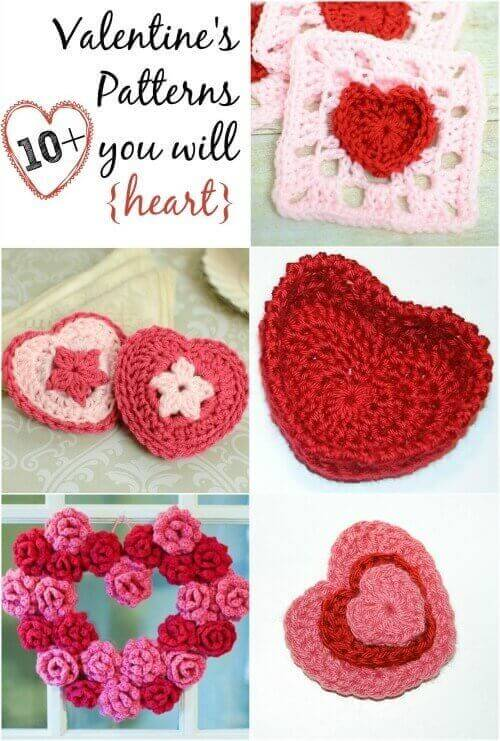 Love is in the air and it's time to start stitchin' for your sweeties! Try one of these free Valentine's Day crochet patterns. #petalstopicots