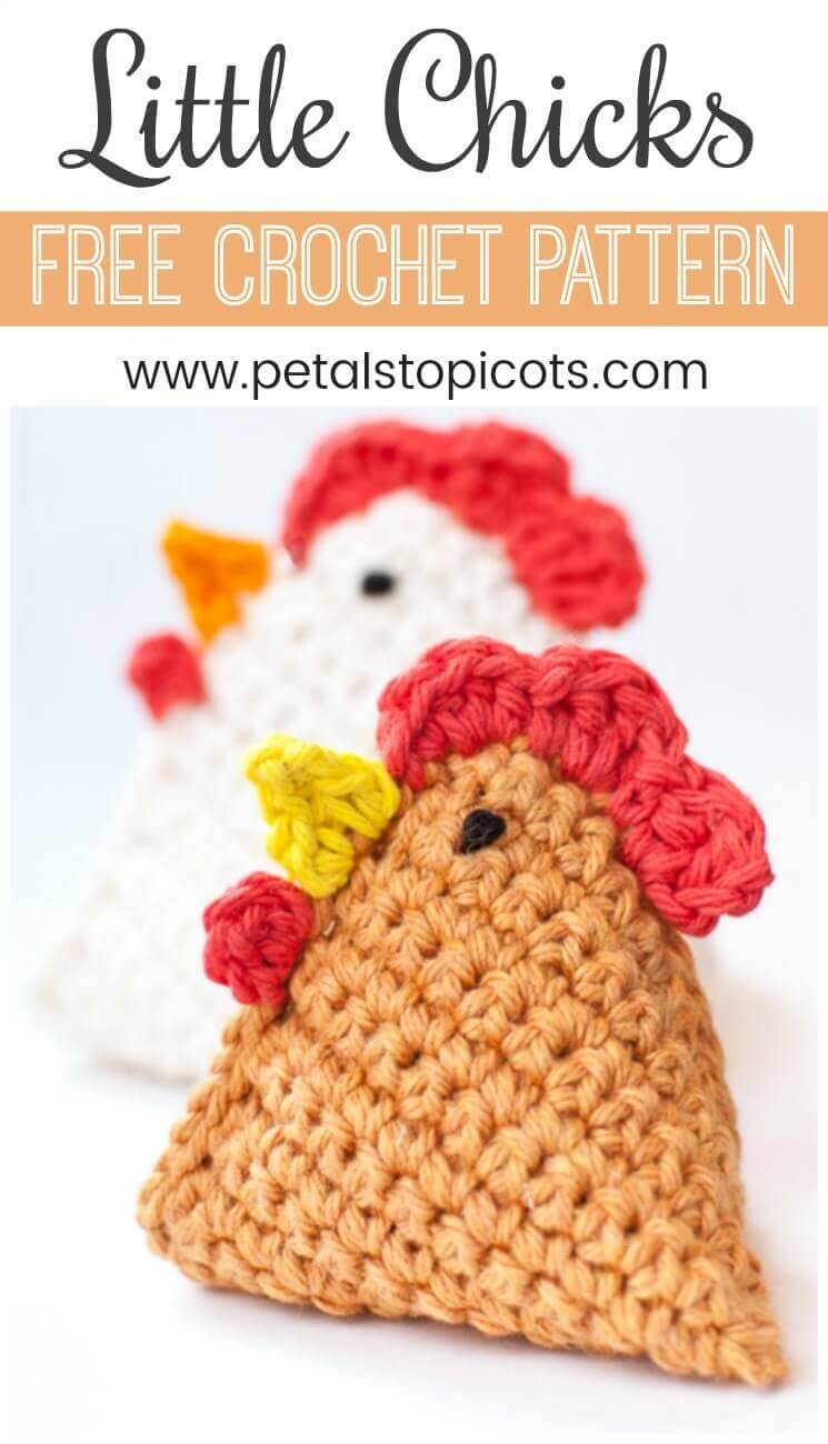 Chicken And Eggs Crochet Coaster Topsimages