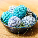 Upcycled fabric crochet Easter egg pattern