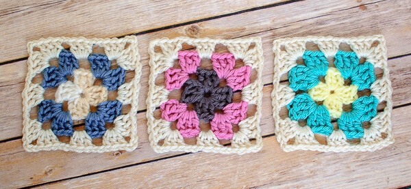crochet granny square diagram 1994 ford bronco stereo wiring left handed stitch petals to picots free pattern
